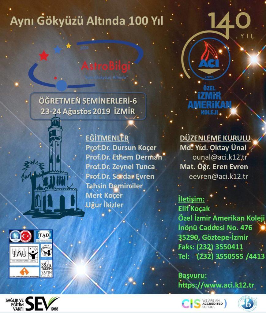 AstroBilgi Öğretmen Seminerleri - 6 @ Özel İzmir Amerikan Koleji | İzmir | Türkiye
